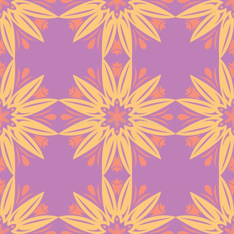 Bloemen gekleurd naadloos patroon Heldere achtergrond vector illustratie
