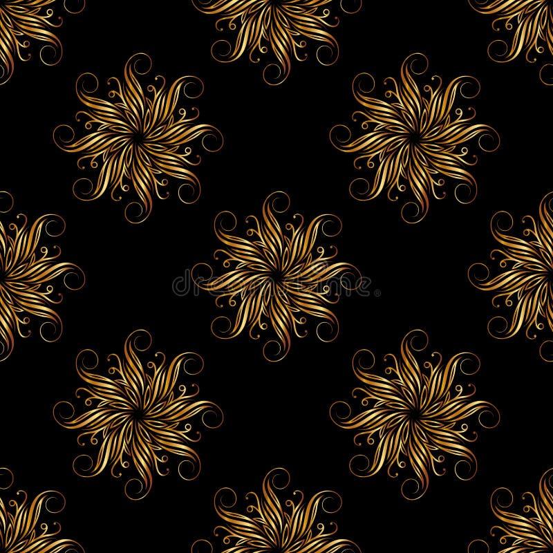 Bloemen geometrisch naadloos patroon Grafische manier Luxe achtergrondontwerp Moderne modieuze abstracte textuur Malplaatje voor  stock illustratie