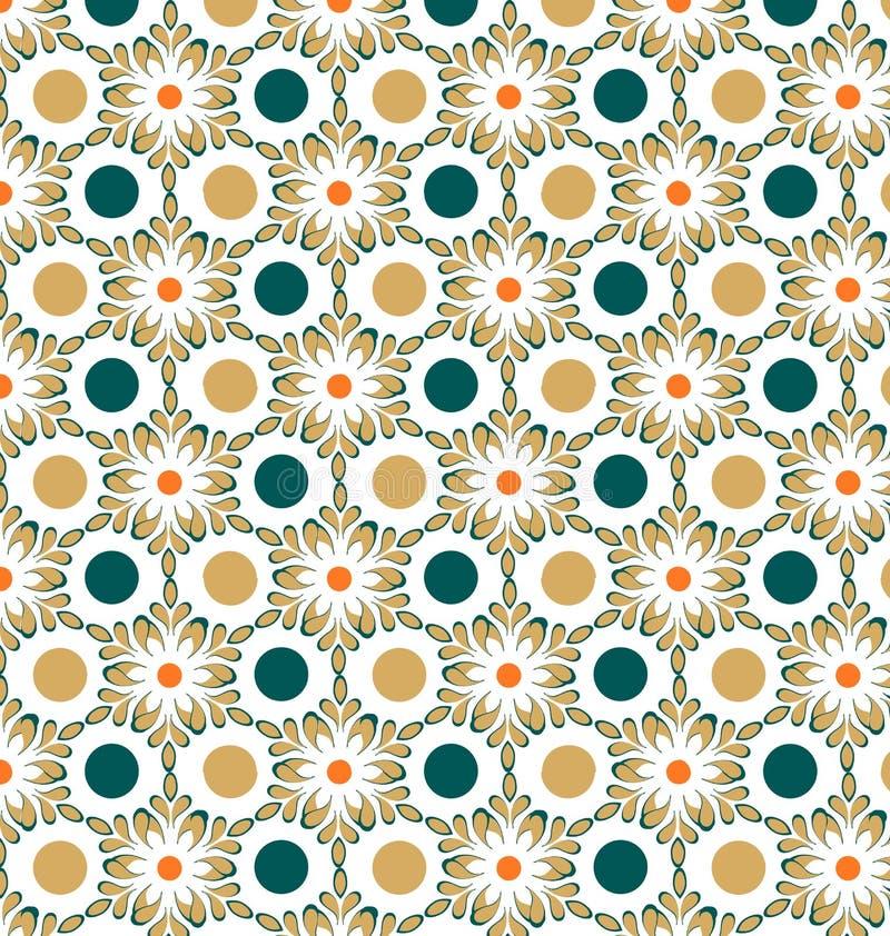 Bloemen geometrisch patroon vector illustratie