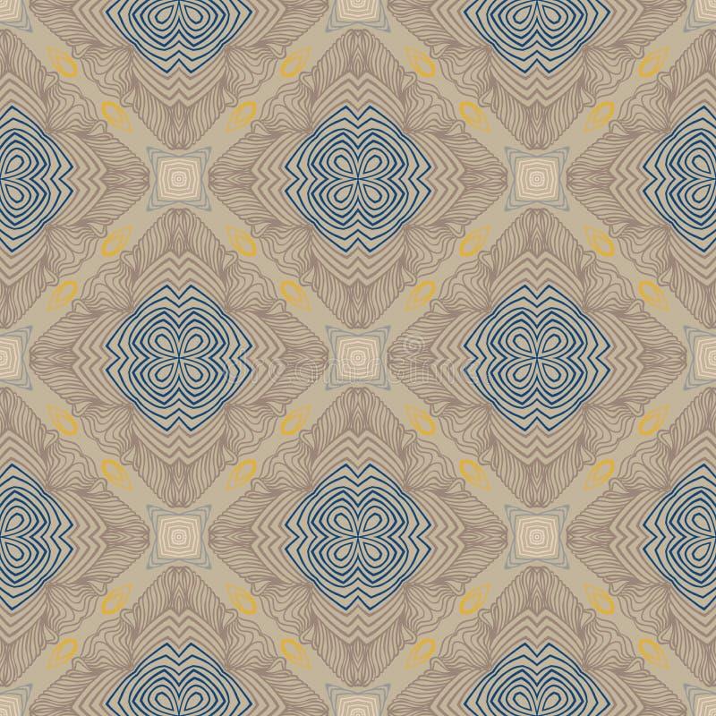 Bloemen geometrisch patroon, eigentijdse stijl vector illustratie