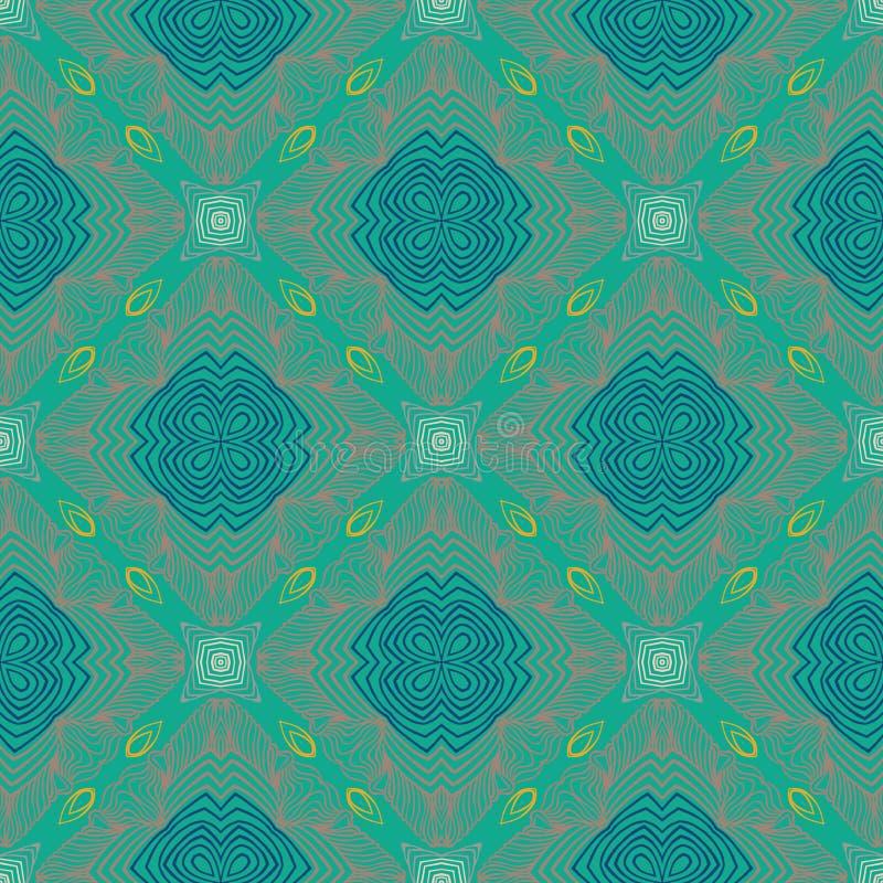 Bloemen geometrisch patroon, eigentijdse stijl stock illustratie