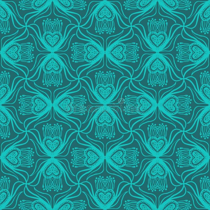 Bloemen gesierd patroon vector illustratie