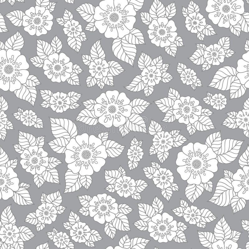 Bloemen getrokken schetsachtergrond vector illustratie