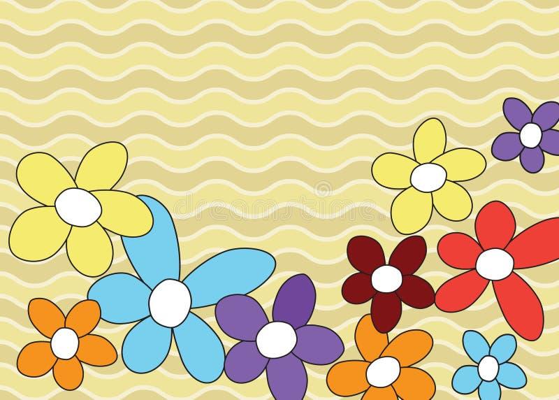 Bloemen grens. royalty-vrije stock afbeelding