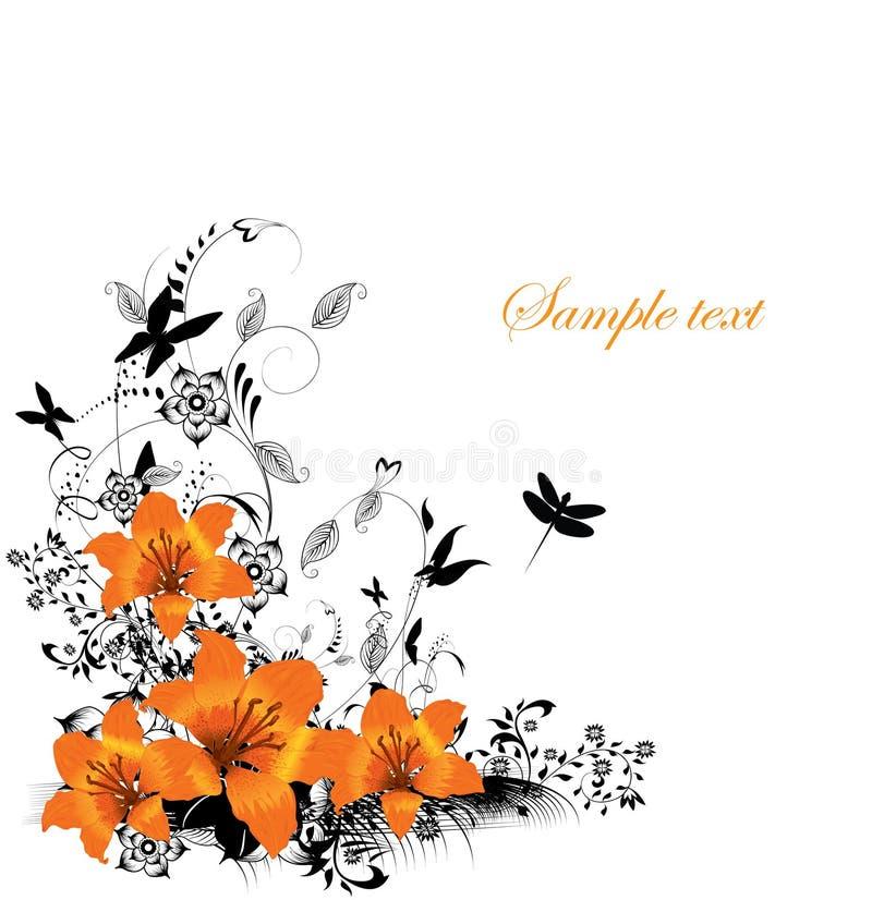 Bloemen grens vector illustratie