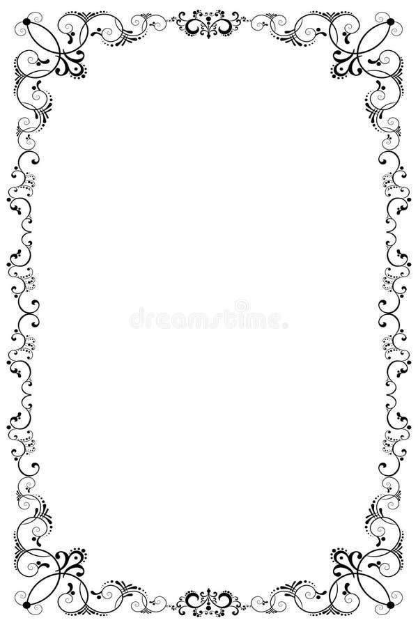 Bloemen grens royalty-vrije illustratie