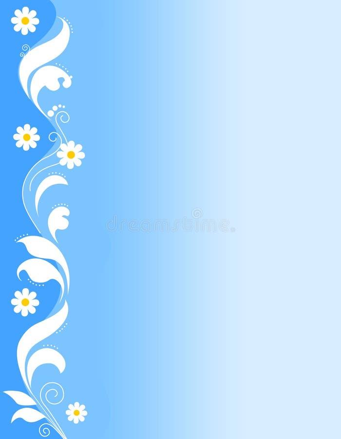 Bloemen grens - blauw royalty-vrije illustratie