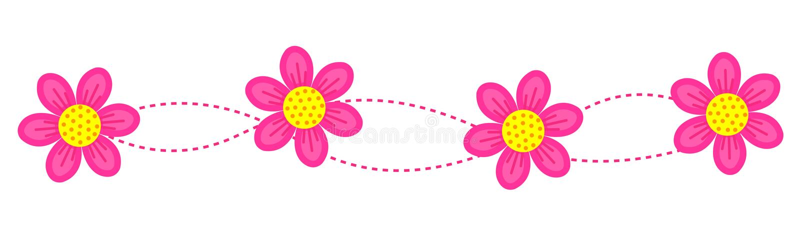 Bloemen grens/frame/verdeler stock illustratie