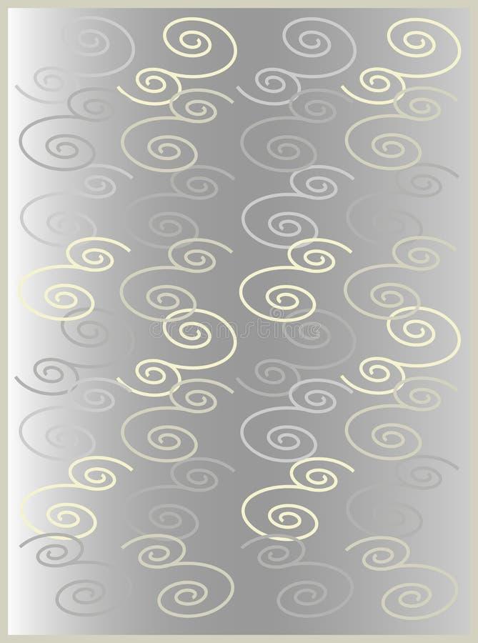 Bloemen grijze gama 2 stock illustratie