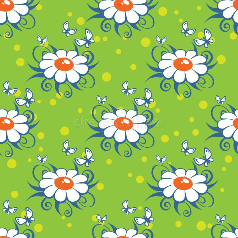 Bloemen groen naadloos patroon vector illustratie
