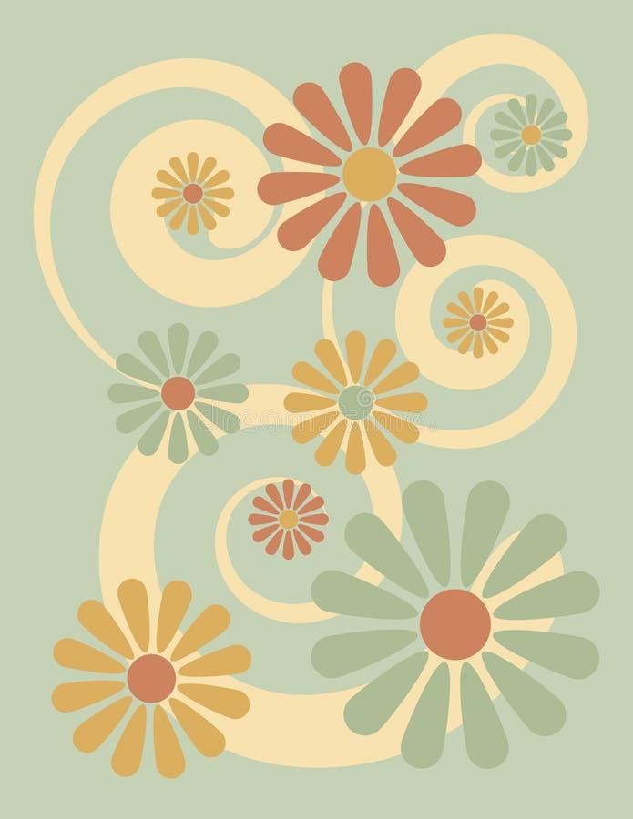 Bloemen Groene Achtergrond stock illustratie