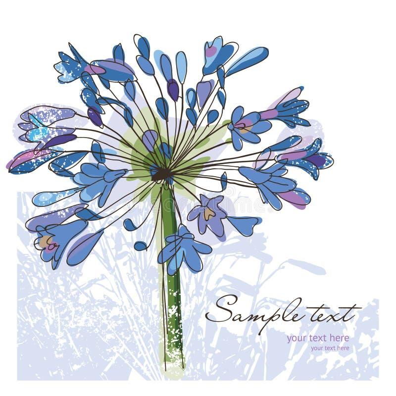 Bloemen, groetkaart stock illustratie