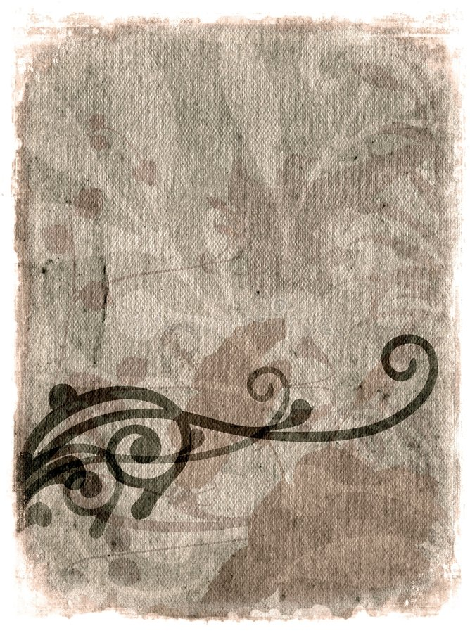 Bloemen grunge royalty-vrije illustratie