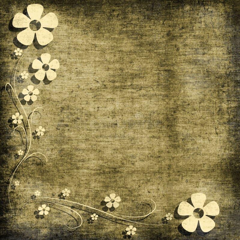 Bloemen grungeachtergrond royalty-vrije illustratie