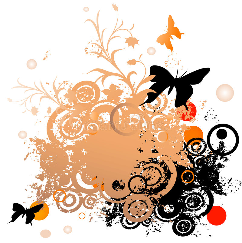 Bloemen grungeontwerp vector illustratie