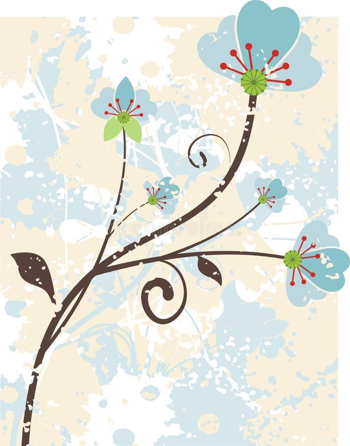 Bloemen grungereeks stock illustratie
