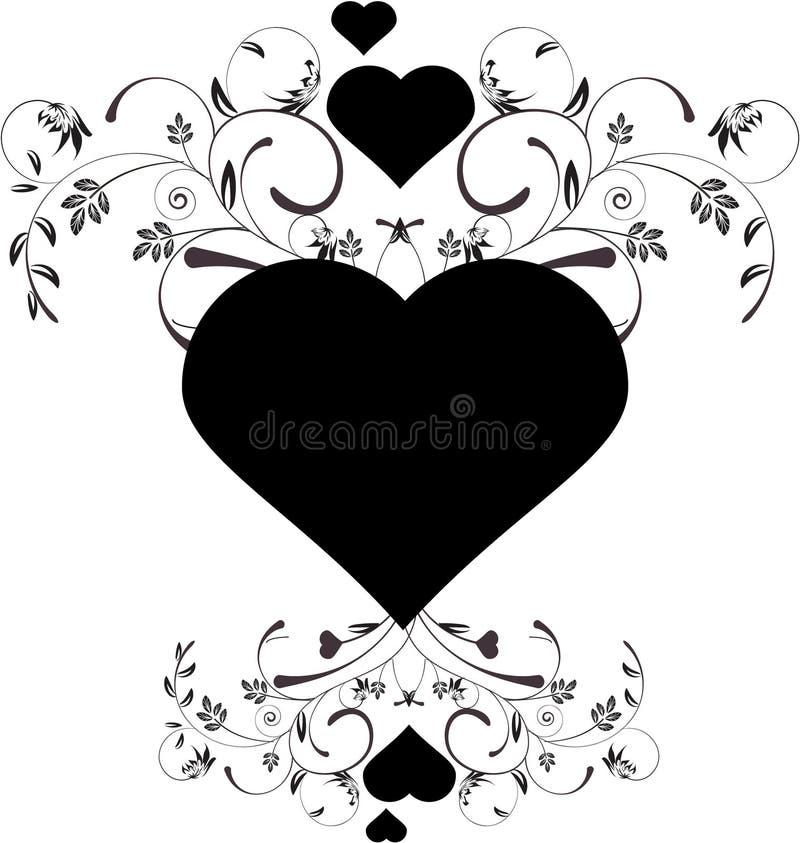 Bloemen harten vector illustratie