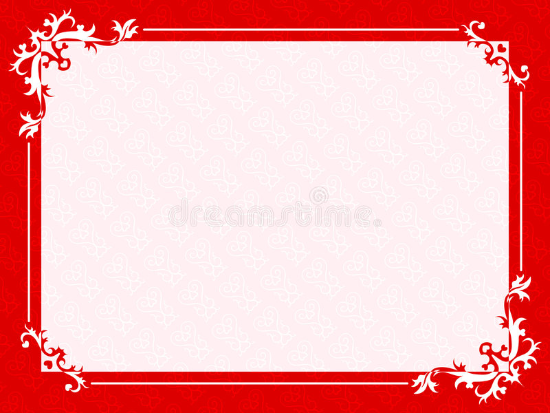 Bloemen hartenframe stock illustratie