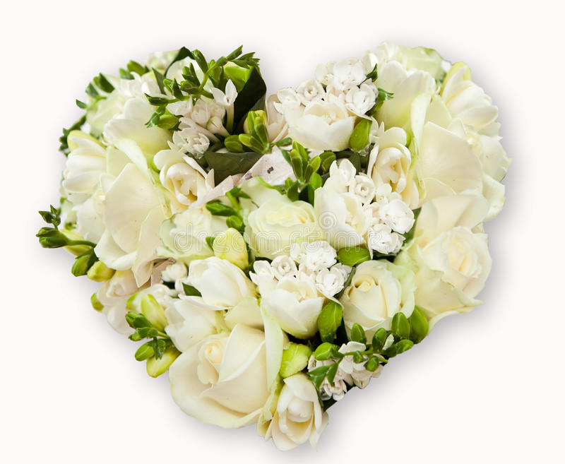 Bloemen in hartvorm royalty-vrije stock afbeelding
