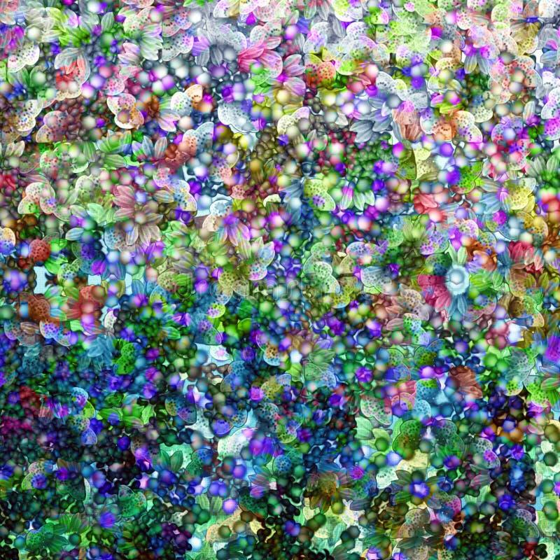Bloemen huwelijk stock illustratie