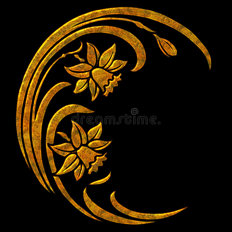 Bloemen Illustratie royalty-vrije stock fotografie