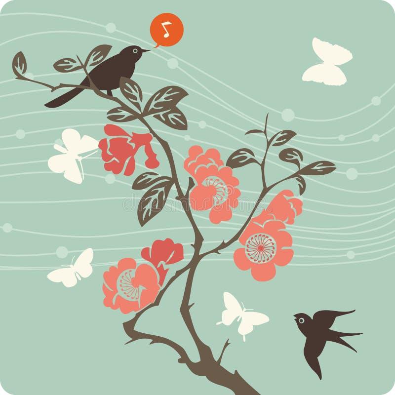 Bloemen illustratie als achtergrond stock afbeelding
