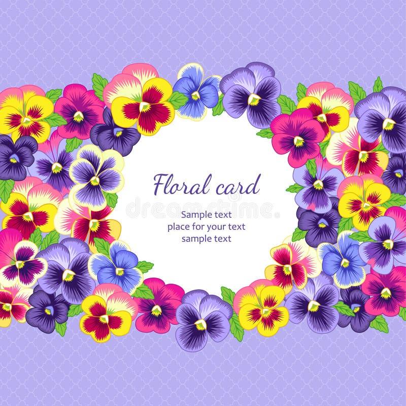 Bloemen kaart royalty-vrije illustratie