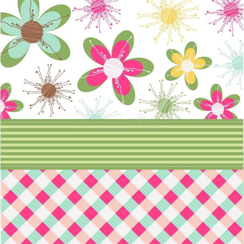 Bloemen kaart, groetkaart stock illustratie