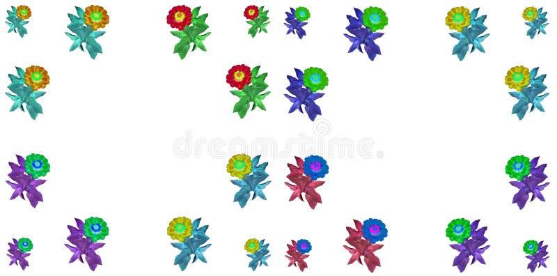 Bloemen kleurrijke patroonreeks als achtergrond royalty-vrije stock afbeeldingen