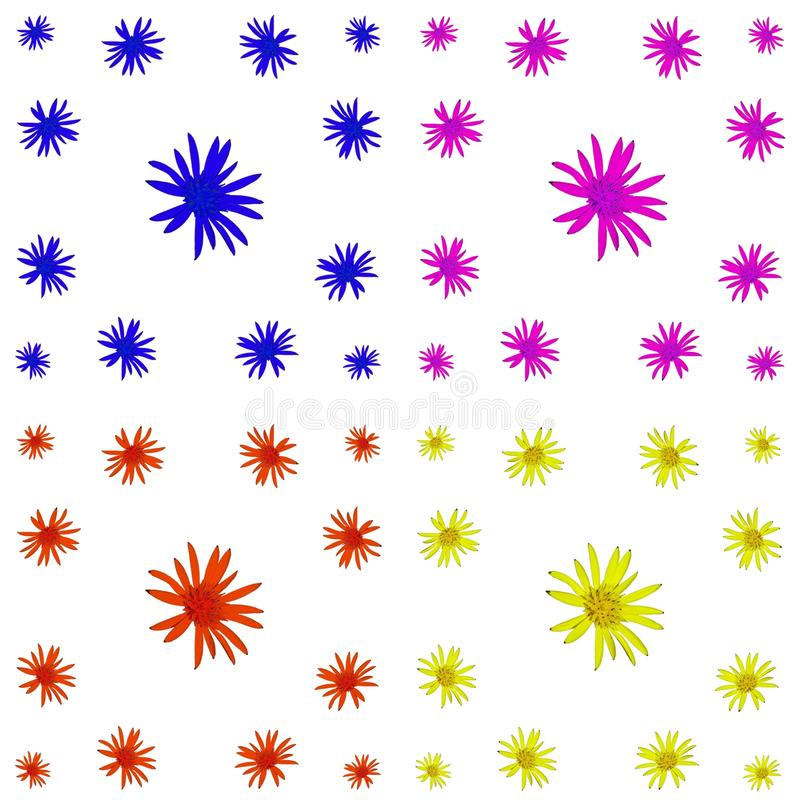 Bloemen kleurrijke patroonreeks als achtergrond royalty-vrije stock afbeelding