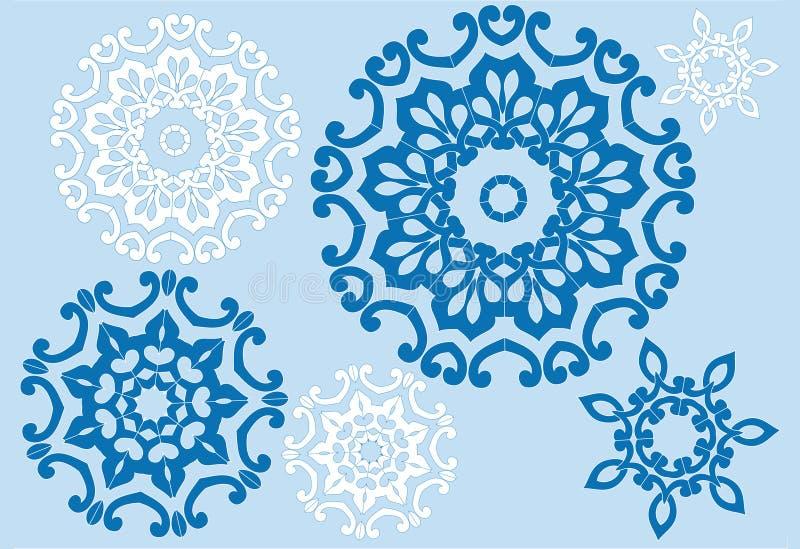 Bloemen kristallen royalty-vrije illustratie