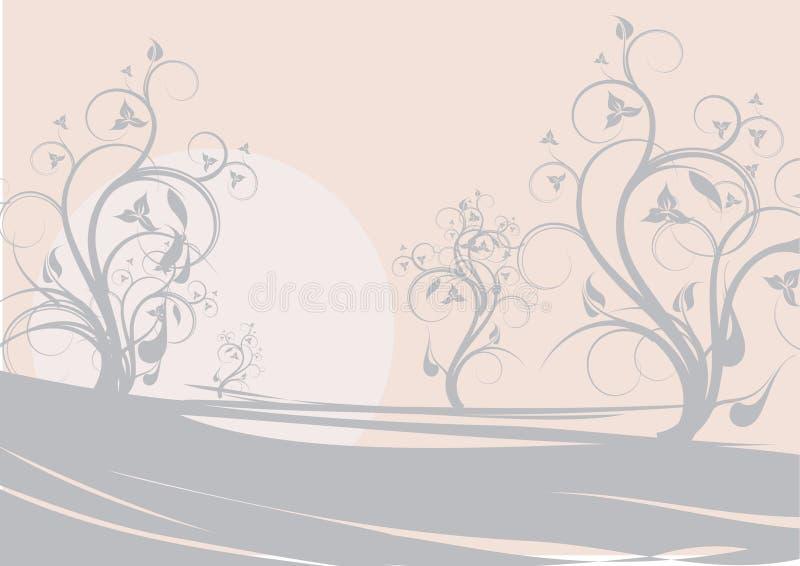Bloemen landschap vector illustratie