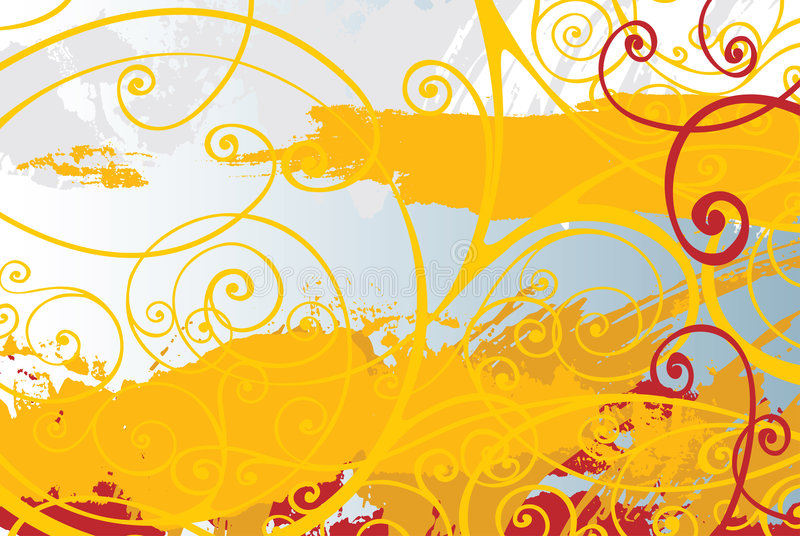 Bloemen lijnen vector illustratie