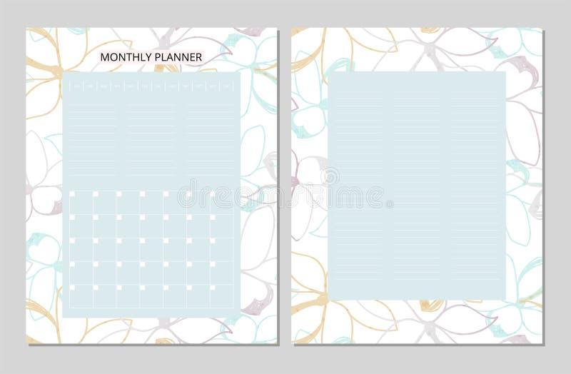 Download Bloemen Maandelijkse Ontwerper Stock Illustratie - Illustratie bestaande uit hand, decoratief: 107701515