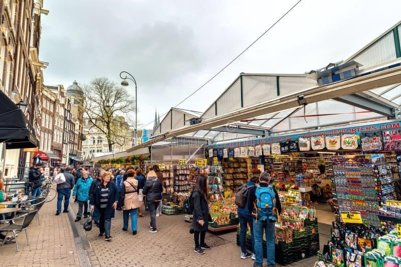 Bloemen Market Amsterdam Olanda immagini stock libere da diritti