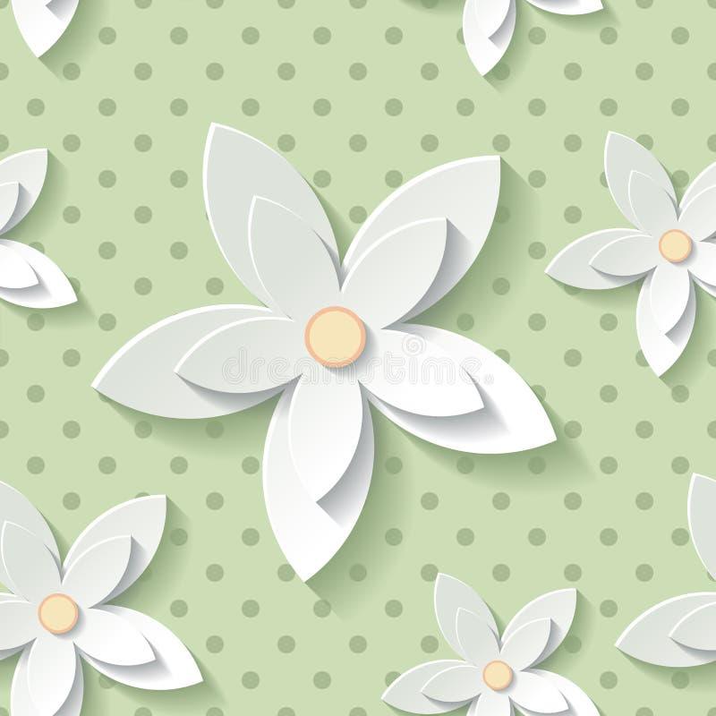 Bloemen modern behang stock illustratie
