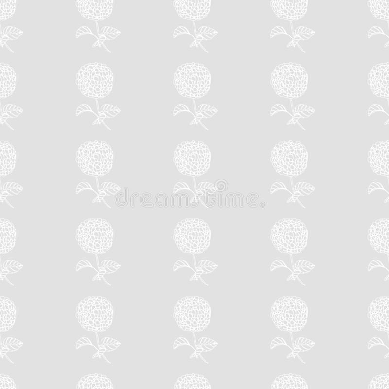 Bloemen mooie naadloze patroon-hydrangea hortensia bloemen voor manier vector illustratie