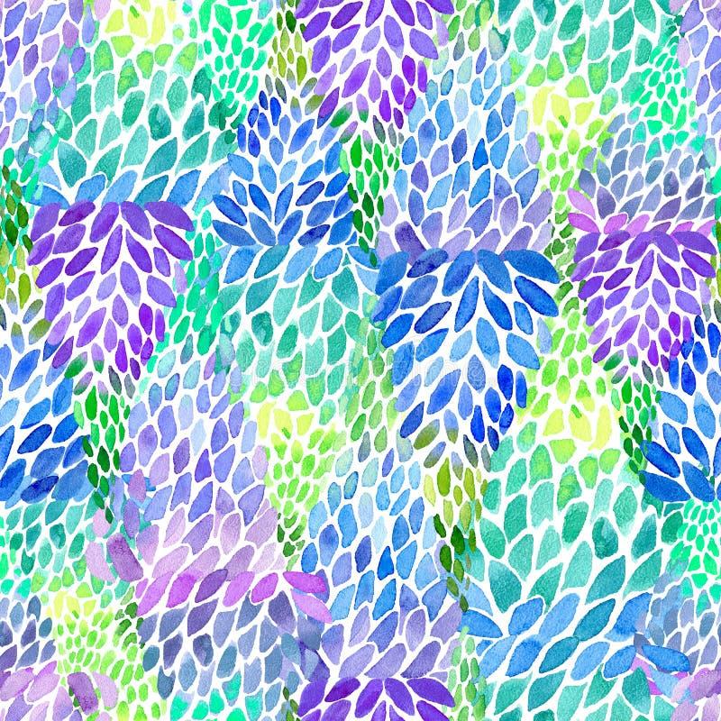 Bloemen naadloos abstract patroon lupine royalty-vrije illustratie