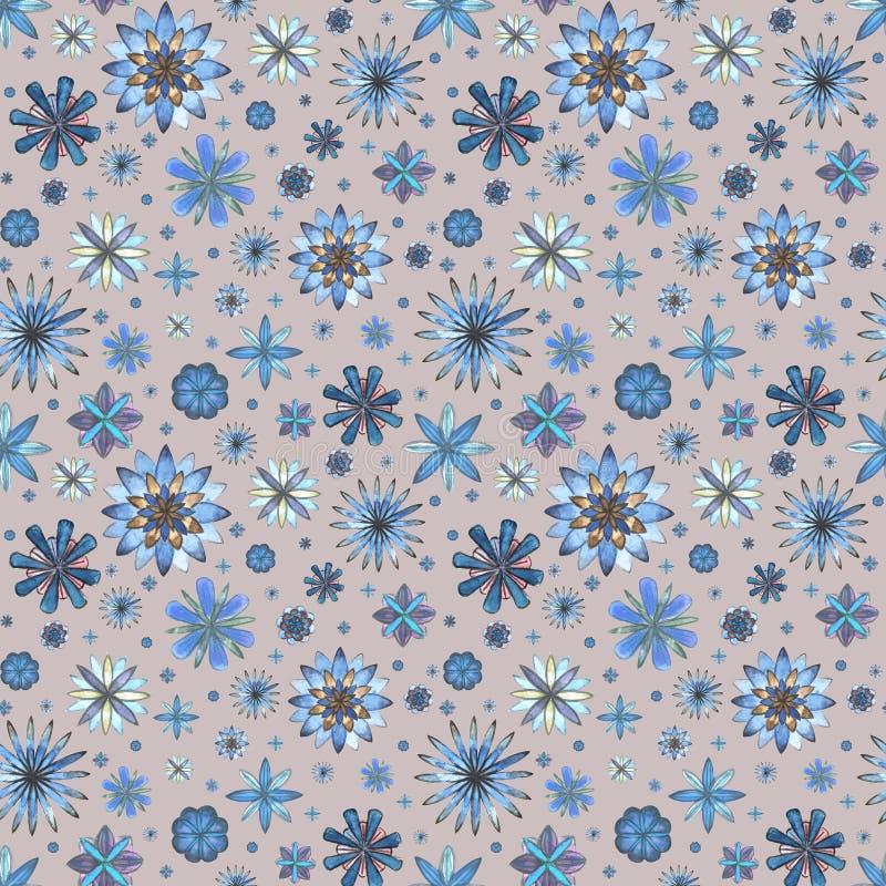 Download Bloemen Naadloos Etnisch Bohopatroon Stock Illustratie - Illustratie bestaande uit geometrisch, samenvatting: 107704975