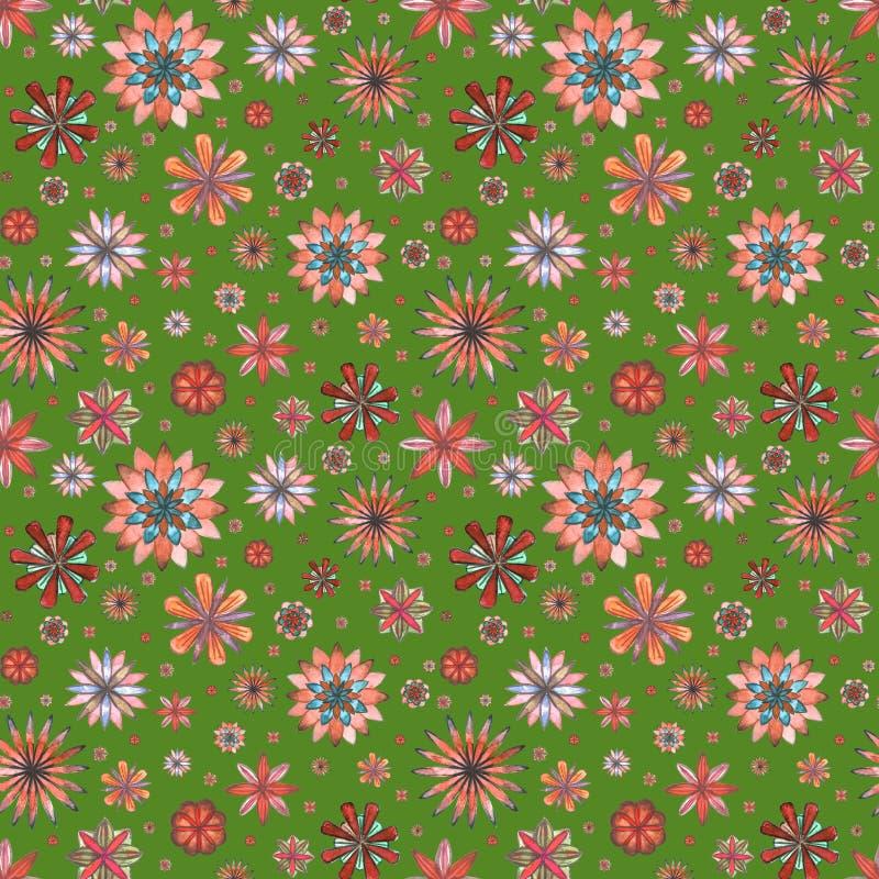 Download Bloemen Naadloos Etnisch Bohopatroon Stock Illustratie - Illustratie bestaande uit decoratie, decor: 107705247