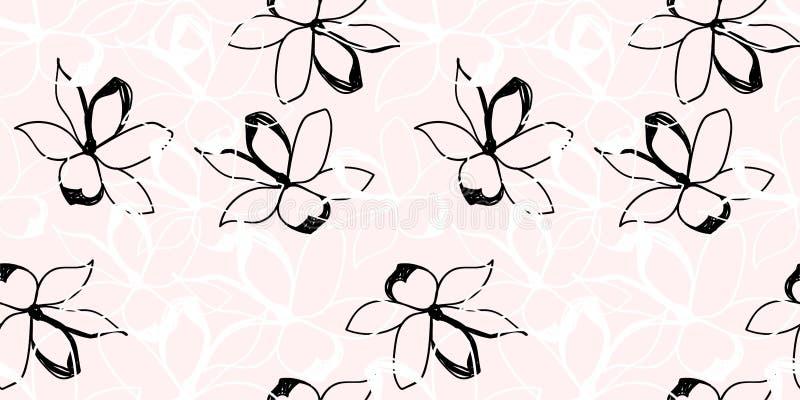 Download Bloemen naadloos patroon stock illustratie. Illustratie bestaande uit bloesem - 107701668