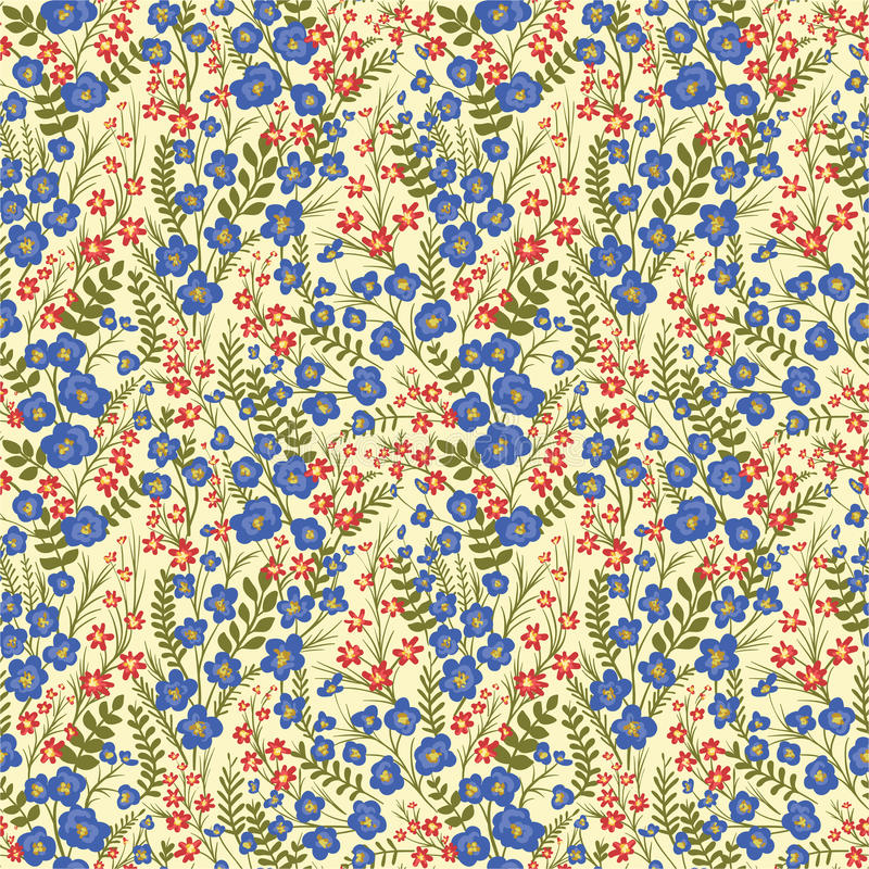 Bloemen naadloos patroon vector illustratie
