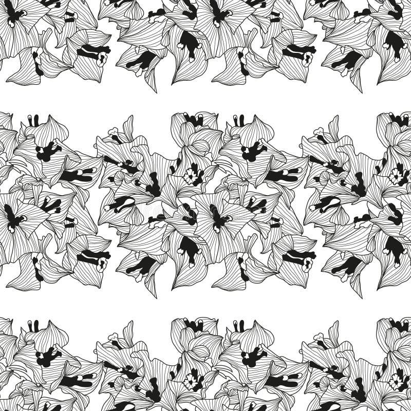 Bloemen naadloos patroon royalty-vrije illustratie