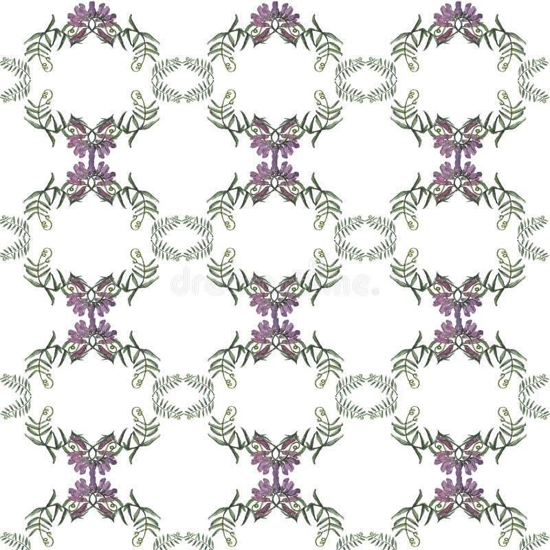 Bloemen naadloos patroon Abstract patroon wildflowers stock foto's