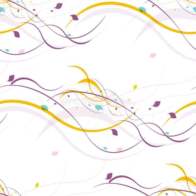 Bloemen naadloos patroon Abstracte golven met vector illustratie