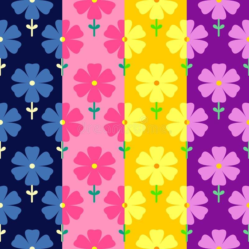 Bloemen naadloos patroon De Banner van bloemen Background royalty-vrije illustratie