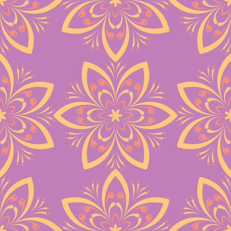Bloemen naadloos patroon Gekleurde Achtergrond royalty-vrije illustratie