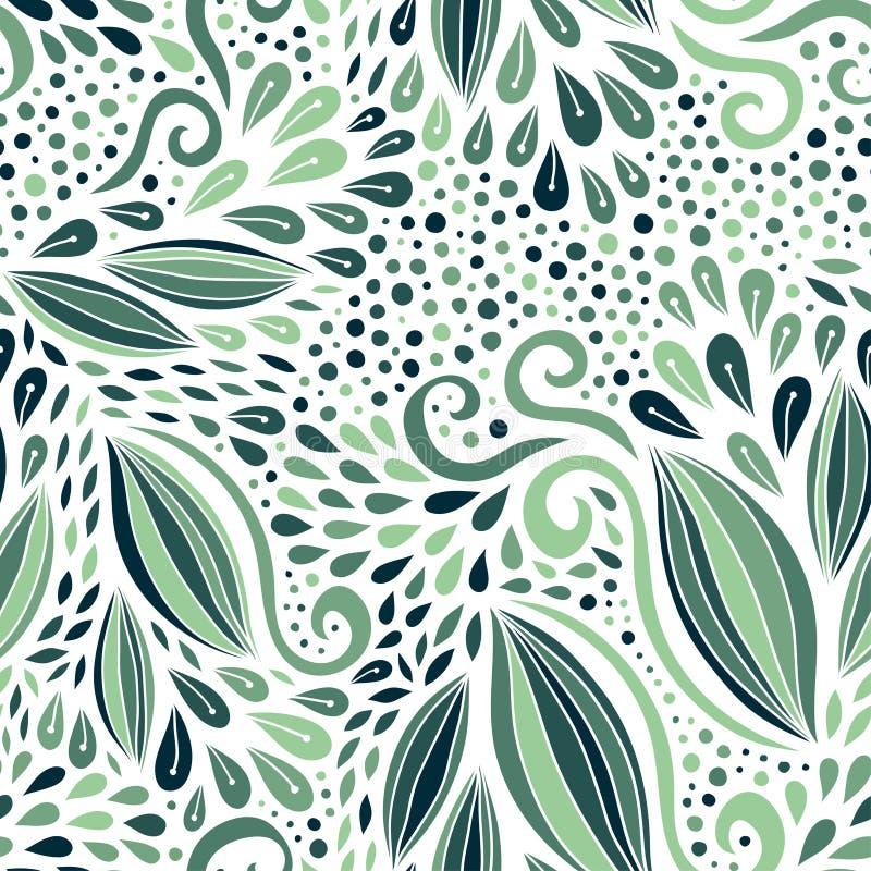 Bloemen naadloos patroon Groene moderne textuur Vectordruk voor textiel of verpakkingsontwerp vector illustratie