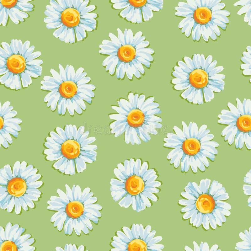 Bloemen naadloos patroon met madeliefjes vector illustratie