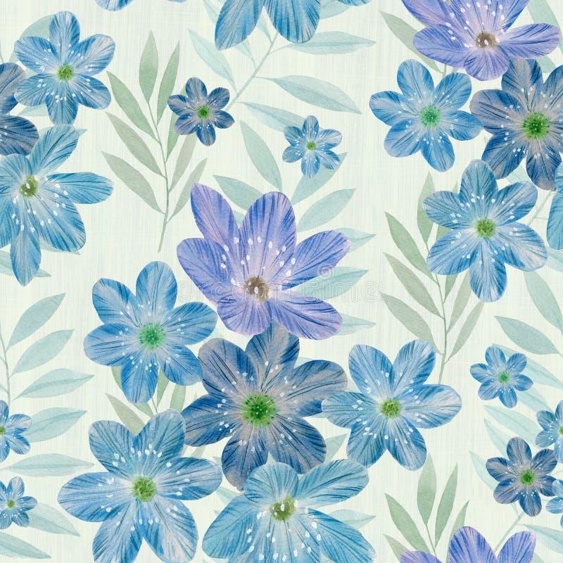 Bloemen naadloos patroon op abstracte achtergrond vector illustratie